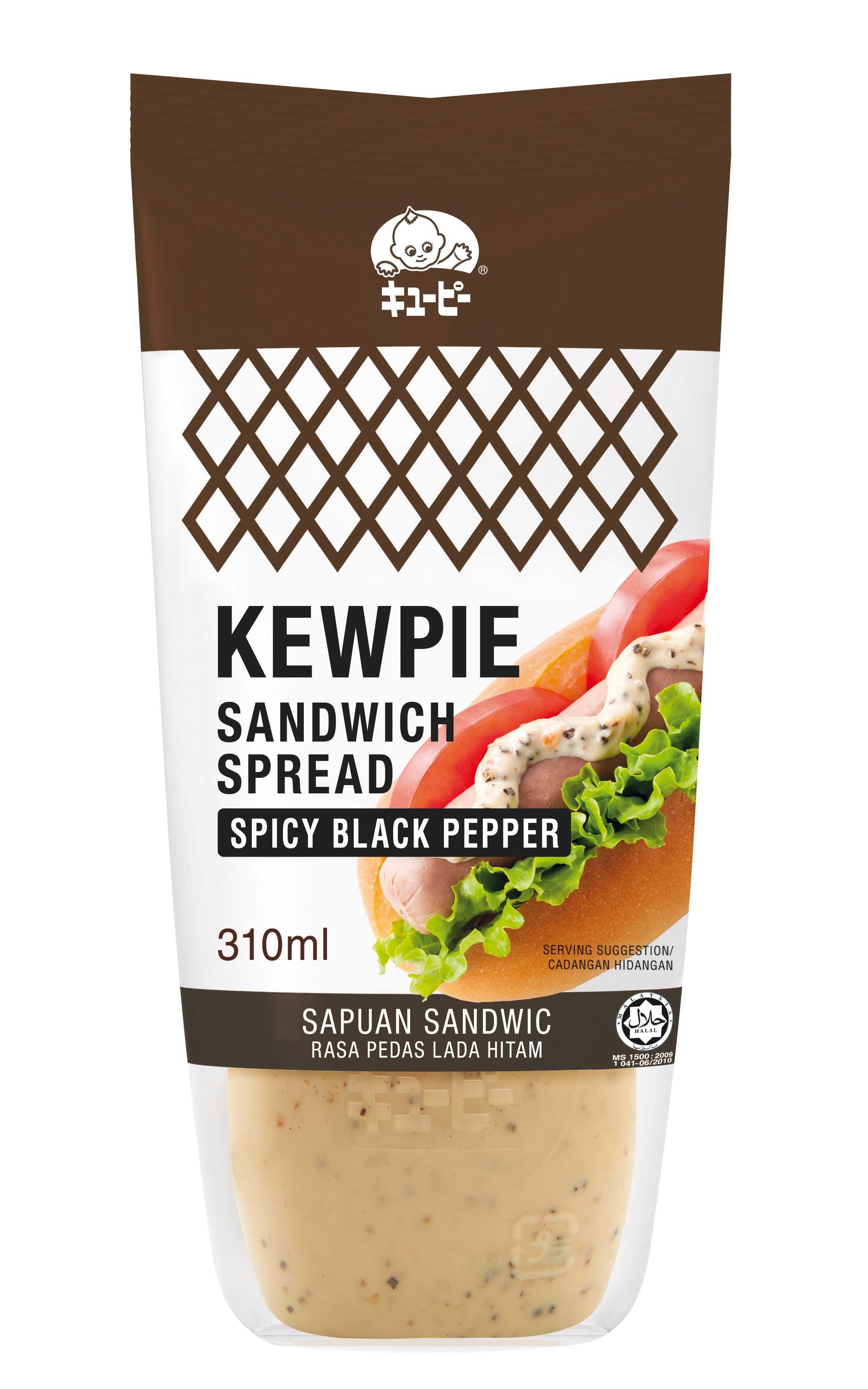 Kewpie Sandwich Spread Black peeper 310 ml