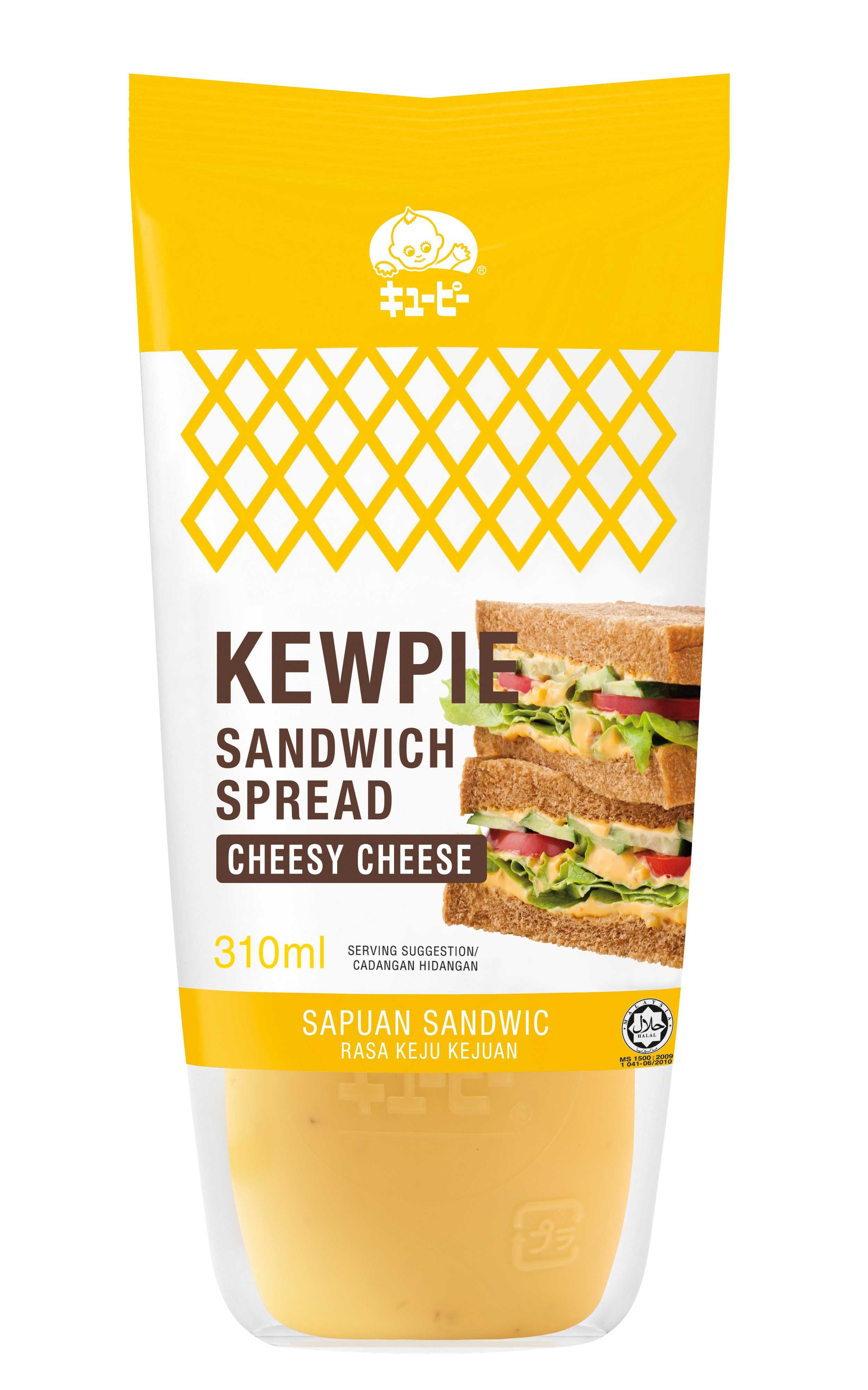 Kewpie Sandwich Spread Cheesy Cheese 310 ml