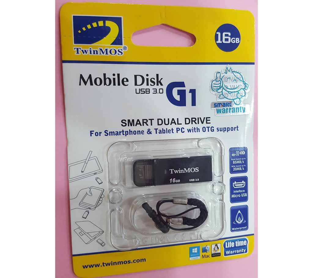 TWINMOS 16GB OTG USB 3.0 পেনড্রাইভ বাংলাদেশ - 523394