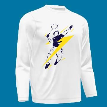 BADMINTON Menz Full Sleeve T-Shirt