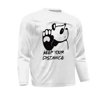 Keep Distance মেনজ ফুল-স্লিভ টি-শার্ট - White