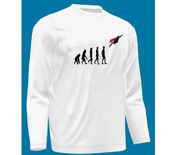 Menz  Superman Evolution Full Sleeve T-Shirt