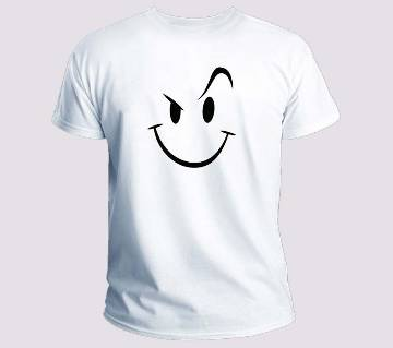 Smile Half Sleeve T-shirt For Mens