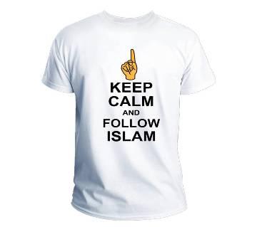 Keep Calm And Follow Islam Summer Menz Half-sleeve T-Shirt