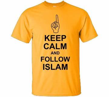 Follow Islam Summer T-Shirt Yellow