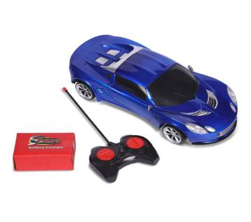 R/C 1:10 Super Speed Big Size Racing Car BLUE with Steering Wheel Controller