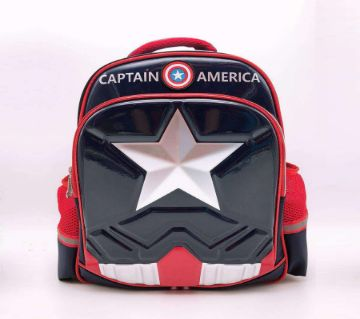 3D Dimensional CAPTAIN AMERICA Laminated School Bag with exclusive flash film mold