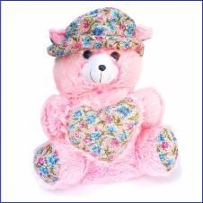 "Sof Teddy Bear Pink 18""x24"""