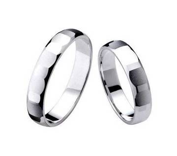 Pack Of 2 Silver Plated Finger Ring for Couple