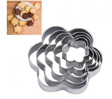 5 Pcs Flower Shape Cookie Cutter
