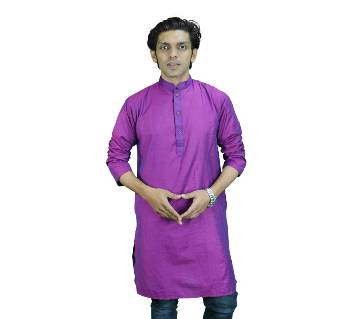 Mens Cotton Panjabi - Purple