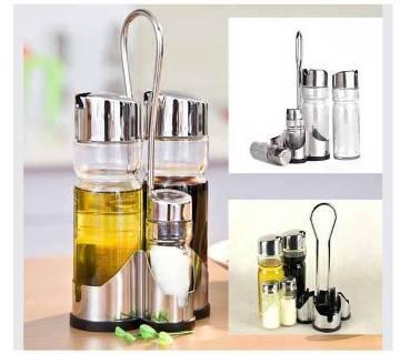 4 Pieces Spice & Oil Dispenser Set