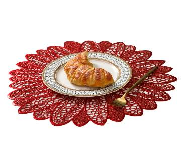 Flower Round Shape Heat Resistant Table Plate Mat