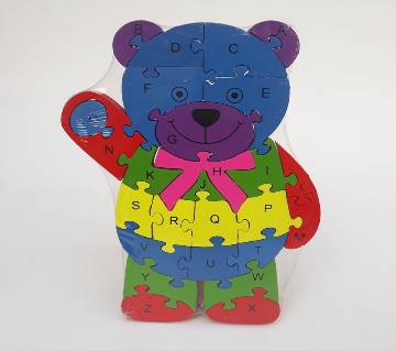 TEDDY BEAR SHAPE WOODEN PUZZLE