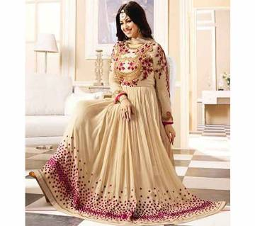 Unstitched Stitched Indian Georgette Embroidered Three-Piece