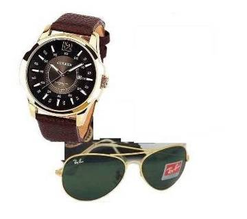 Ray-Ban copy Sunglasses and Curren Watch combo