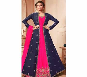 Unstitched Stitched Georgette Embroidered Three-Piece (Copy)