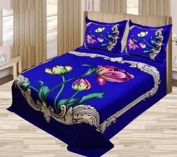 Cotton double size bed sheet set-3 pc