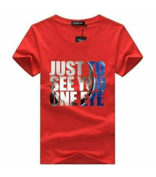 One Eye Half Sleeve Cotton T-shirt for Men