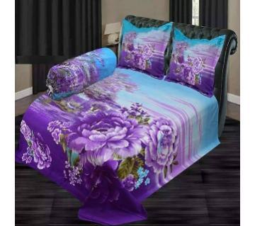 double size cotton 4 piece bedsheets