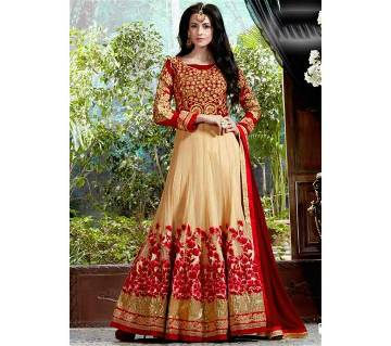 Unstitched embroidery georgette three piece-copy