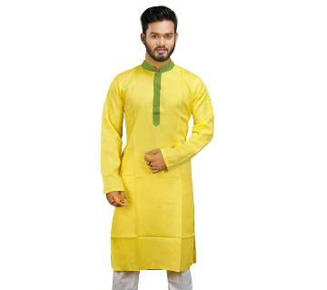 Falgun Semi Long Cotton Panjabi For Men