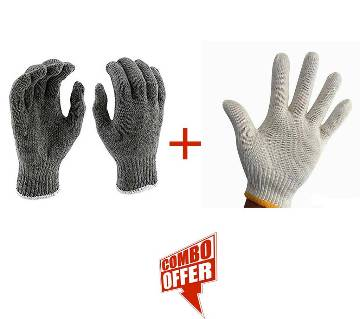 Heavy Weight Cotton String Knit Hand Gloves (Combo offer)