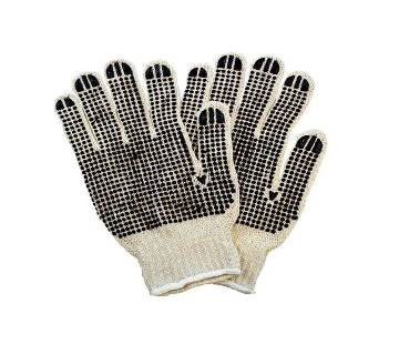 Heavy Weight Cotton PVC-Dotted String Knit Gloves