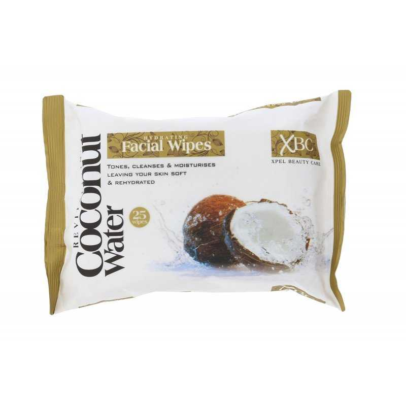Xpel Revitalizing Coconut Water Facial Wipes 25 pcs