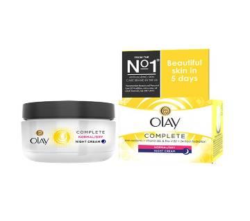 Olay Complete Care Night Cream Moisturiser 50ml - UK