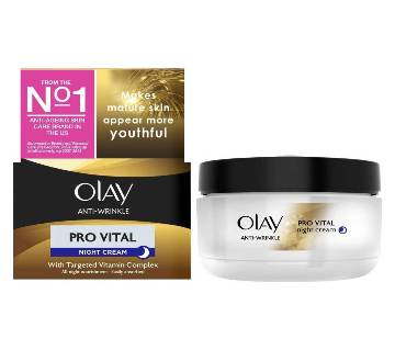 Olay Anti-Wrinkle Pro Vital Night Cream 50ml - UK