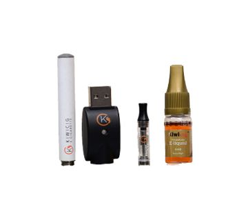 KiwiCig Battery, Charger and Liquid Gold