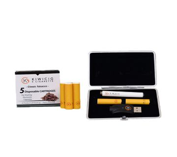 KiwiCig Black Case and Classic Tobacco Cartridge Package