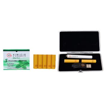 KiwiCig Black Case and Menthol Cartridge Package