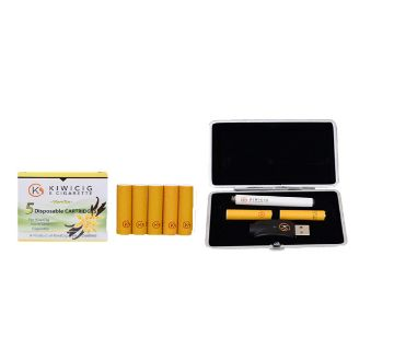 KiwiCig Black case and Vanilla Cartridge Package (New Zealand)