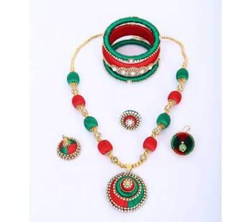 Multi Color Silk Thread Jewelary Set