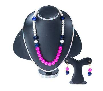 Multi Colour Marble Stone Setting Jewellery Set