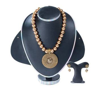 Golden Color Stone Pearl Setting Jewellery Set