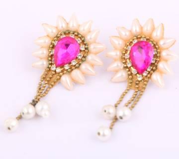 Stone setting earrings