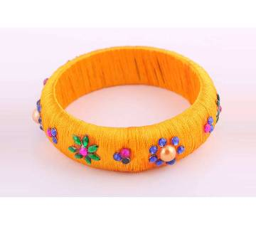 Silk yarn bangles-1pc