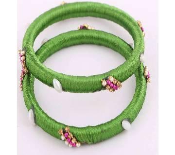 Silk yarn bangles