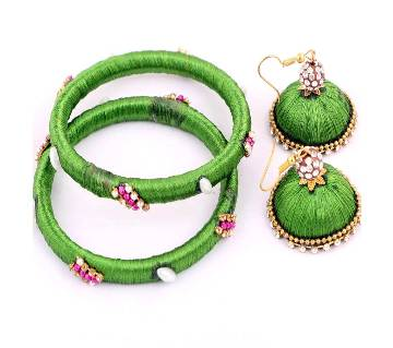 silk thread bangles & earrings