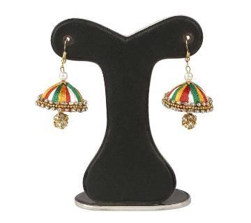 Multi color Silk Thread Earring
