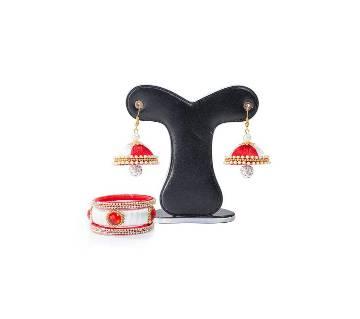 Multi Color Silk Thread Earring & Bangles