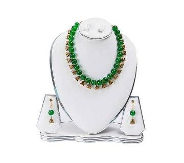 Green Color Artificial Pearl Jewelry Set