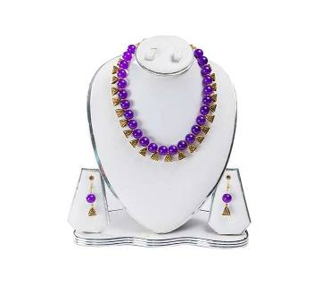 Purple Color Artificial Pearl Jewelry Set