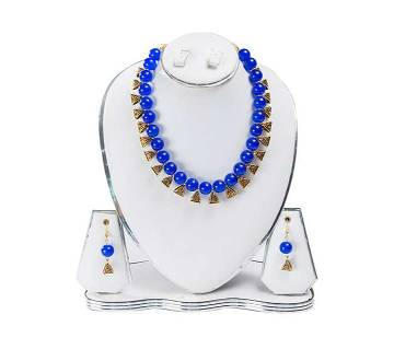 Blue Color Artificial Pearl Jewelry Set