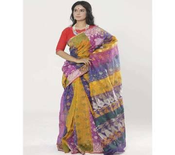 Multi Color Tant Cotton Jamdani Saree (RCS_02)