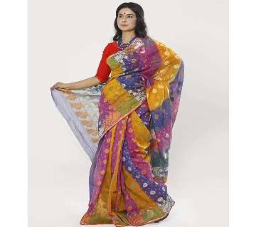 Multi Color Tant Cotton Jamdani Saree (RC_03)