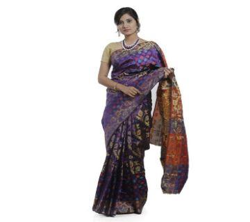 Purple Color Tangail Silk Saree